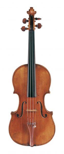 Front of a violin by Giovanni Battista Guadagnini, Milan, 1751, ex-Sametini