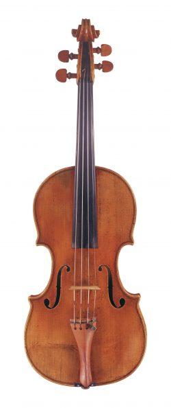 Front of a violin by Giovanni Battista Guadagnini, Milan, 1757