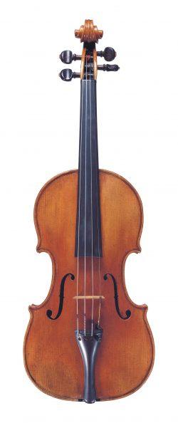 Front of a violin by Giovanni Battista Guadagnini, Cremona, 1758