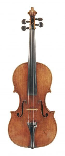 Front of a violin by Giovanni Battista Rogeri, Brescia, 1696