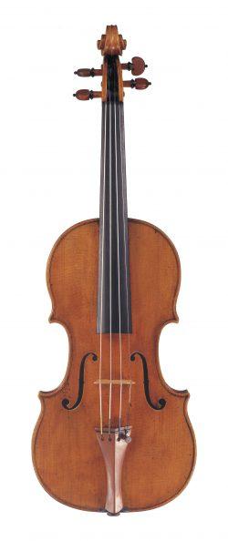 Front of a violin by Giovanni Battista Rogeri, Brescia, 1699