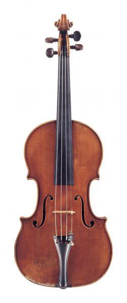 Front of a violin by Giovanni Francesco Pressenda, Turin, 1827