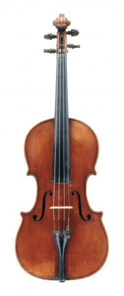 Front of a viola by Giovanni Francesco Pressenda, Turin, 1831