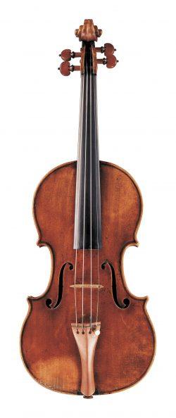 Front of a violin by Giovanni Francesco Pressenda, Turin, 1834