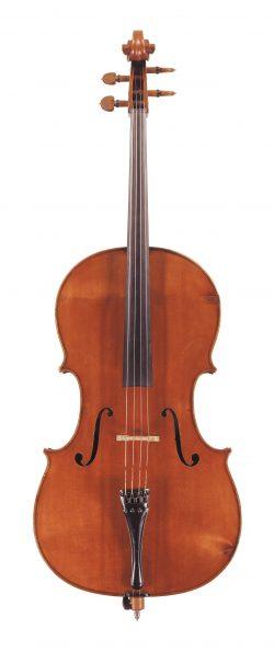 Front of a cello by Giovanni Francesco Pressenda, Turin, 1845