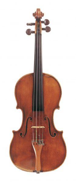 Front of a violin by Giovanni Francesco Pressenda, Turin, 1846