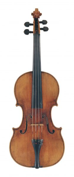Front of a violin by Giovanni Grancino, Milan, 1693