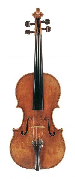 Front of a violin by Giovanni Maria del Bussetto, Cremona, 1675