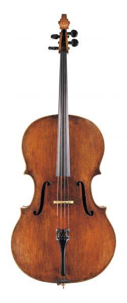 Front of a cello by Giovanni Paolo Maggini, Brescia, circa 1610