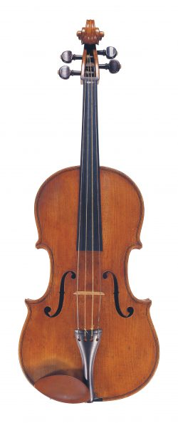 Front of a viola by Giovanni Rota, Cremona, 1809