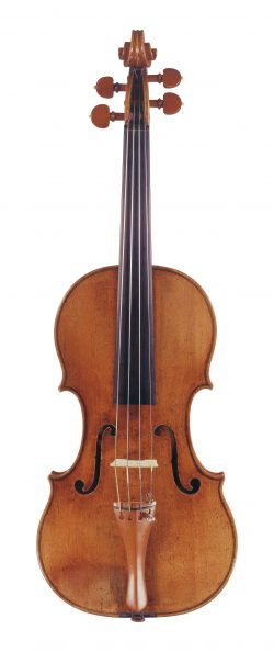 Front of a violin by Girolamo Amati, Cremona, 1693