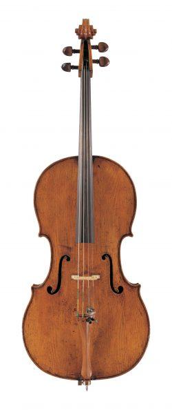 Front of a cello by Girolamo Amati, Cremona, circa 1690