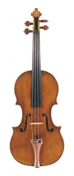 Front of a violin by Antonio & Girolamo Amati, Cremona, 1596