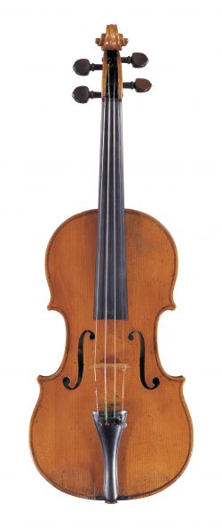 Front of a violin by Giuseppe Gagliano, Naples, 1784