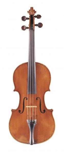 Front of a violin by Giuseppe Gagliano, Naples, circa 1775