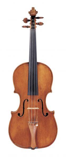 Front of a violin by Giuseppe Guadagnini, Pavia, circa 1785