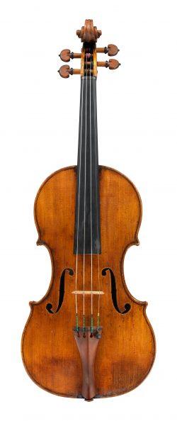 front of a violin by Giuseppe Guarneri del Gesu, Cremona, 1736, Ex-Pollitzer