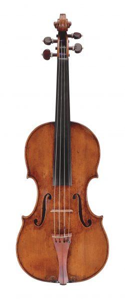 Front of a violin by Giuseppe Guarneri del Gesù, Cremona, 1739, Ex-Menuhin, ex-Ebersholt