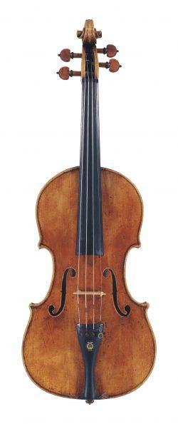 Front of a violin by Giuseppe Guarneri del Gesu, Cremona, 1741, ex-Duvette, ex-Doublday