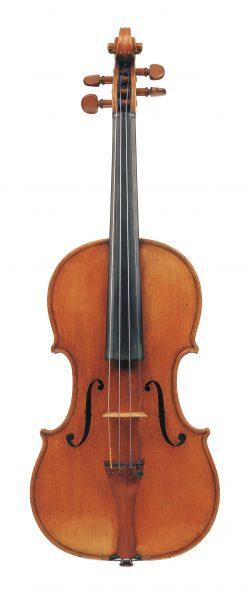 Front of a violin by Giuseppe Antonio Rocca, Genoa, 1846