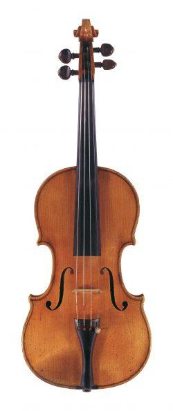 Front of a violin by Giuseppe Antonio Rocca, Genoa, 1847