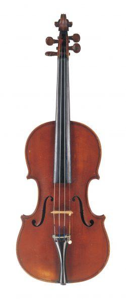 Front of a violin by Giuseppe Anotnio Rocca, Genoa, 1852