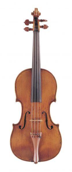 Front of a violin by Giuseppe Guarneri filius Andreae, Cremona, 1703