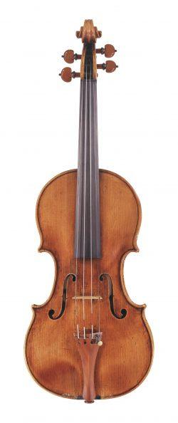 Front of a violin by Giuseppe Guarneri filius Andreae, Cremona, 1710