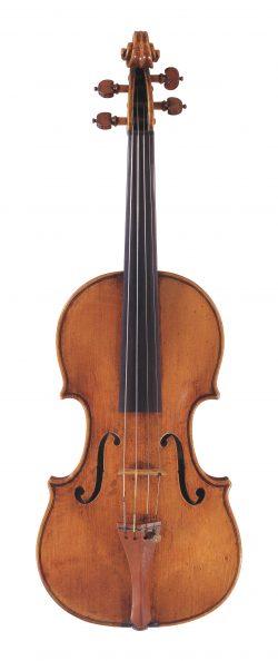 Front of a violin by Giuseppe Guarneri filius Andreae, Cremona, 1714
