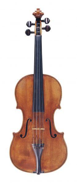 Front of a viola by Gregorio Antoniazzi, Cremona, 1738