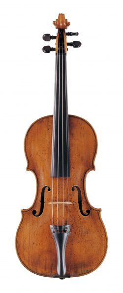 Front of a violin by Jacob Stainer, Absam, 1662