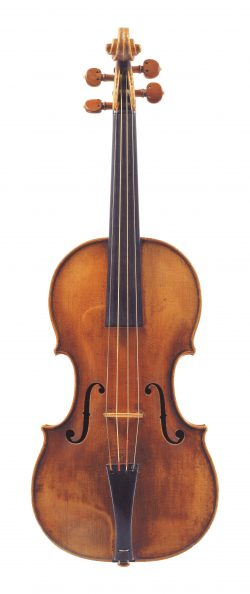 Front of a violin by Jacob Stainer, Absam, 1668