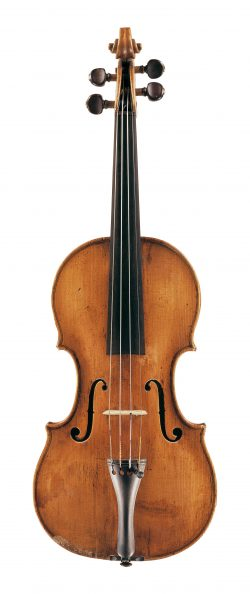 Front of a violin by Jacob Stainer, Absam, circa 1660