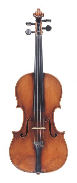 Front of a violin by Jean Baptiste Vuillaume, Paris, 1848