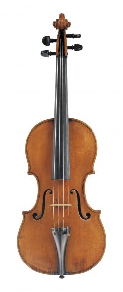 Front of a violin by Lorenzo & Tomaso Carcassi, Florence, 1771