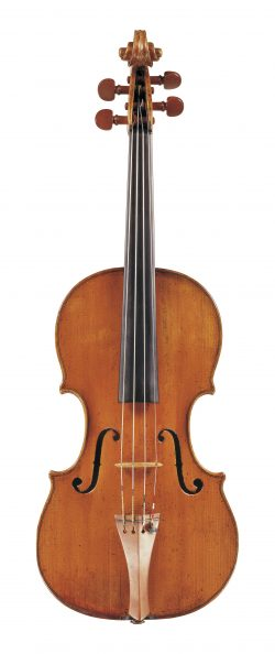 Front of a violin by Lorenzo & Tomaso Carcassi, Florence, circa 1760