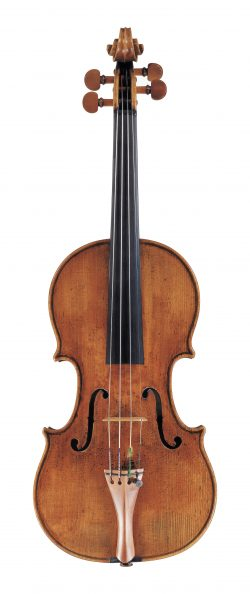 Front of a violin by Matteo Goffriller, Venice, 1703