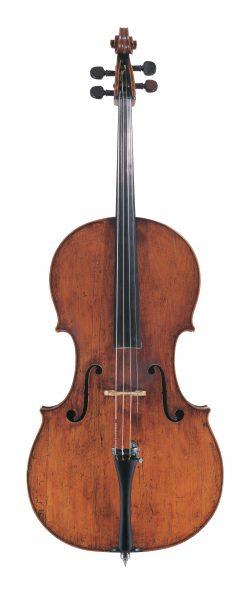 Front of a cello by Matteo Goffriller, Venice, circa 1700