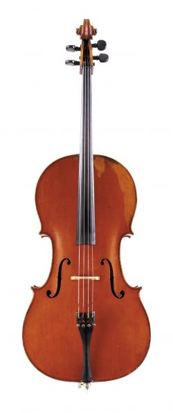 Front of a cello by Nicolas Lupot, Paris, 1793