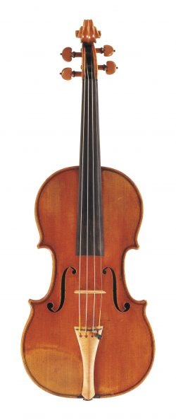 Front of a violin by Nicolas Lupot, Paris, 1805