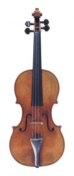 Front of a violin by Nicolo Amati, Cremona, 1665