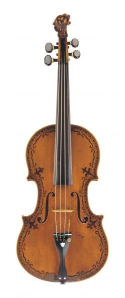 Front of a violin by Nicolo Gagliano, Naples, 1771