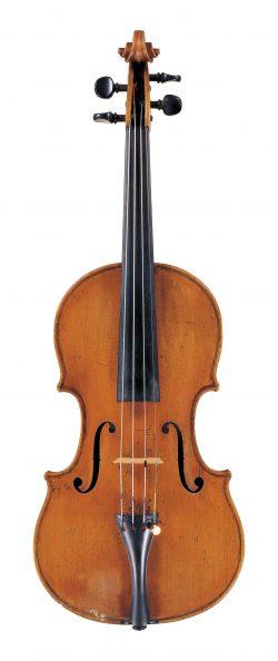 Front of a violin by Nicolo Gagliano, Naples, circa 1770