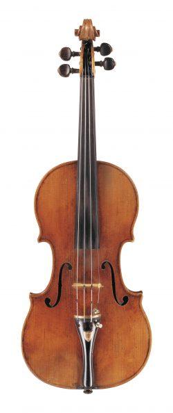 Front of a violin by Omobono Stradivari, Cremona, 1732