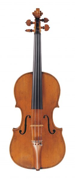 Front of a violin by Pietro Antonio Landolfi, Milan, 1761