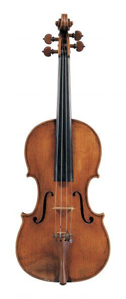 Front of a violin by Pietro Giovanni Mantegazza, Milan, circa 1770