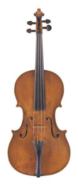 Front of a viola by Pietro Giovanni Mantegazza, Milan, circa 1780