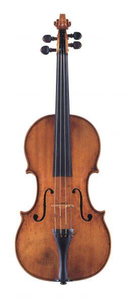 Front of a violin by Pietro Guarneri of Mantua, 1704
