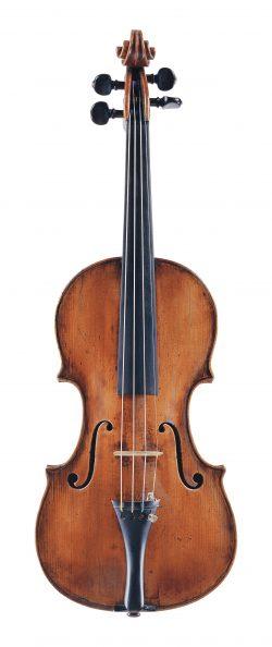 Front of a violin by Pietro Guarneri of Venice, circa 1745