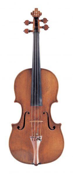 Front of a violin by Pietro Guarneri of Venice, circa 1750